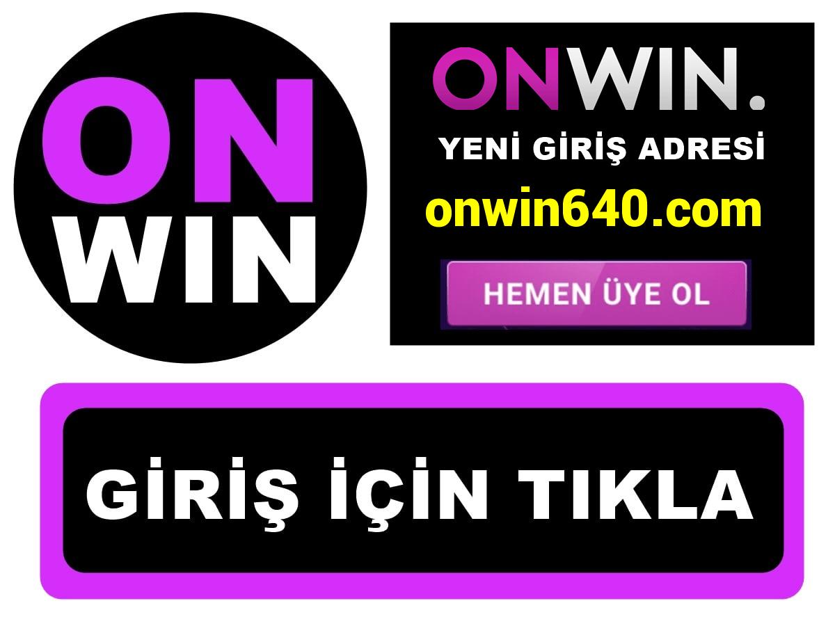 Onwin640 Onwin 640 giriş